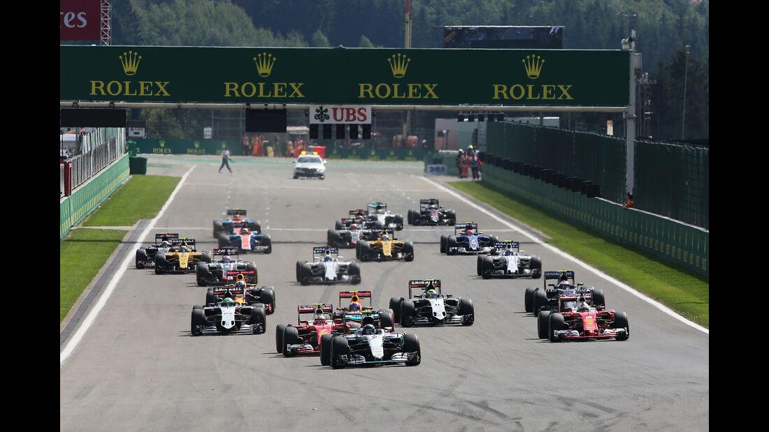 Start - Formel 1 - GP Belgien 2016