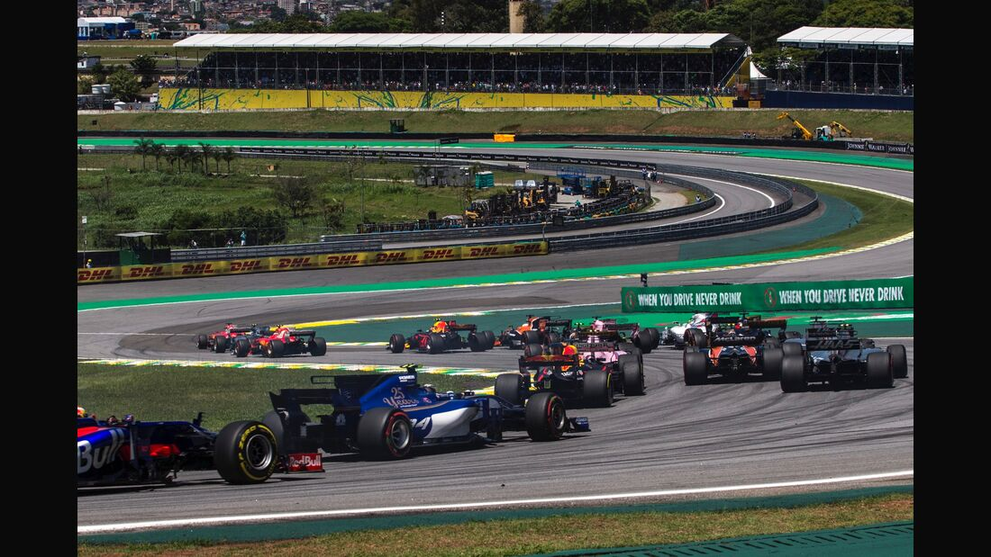 Start - Formel 1 - GP Brasilien - 12. November 2017