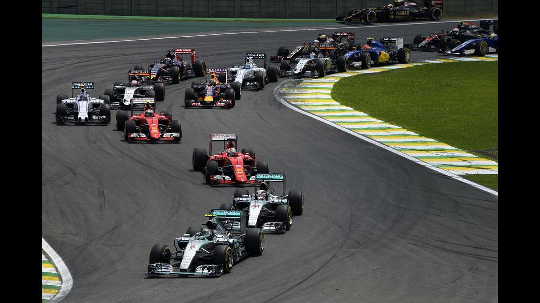 Start - Formel 1 - GP Brasilien- 15. November 2015