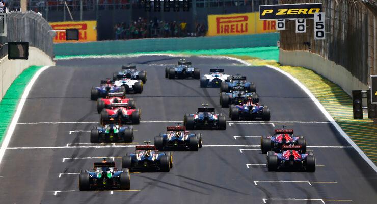 Start - Formel 1 - GP Brasilien 2014