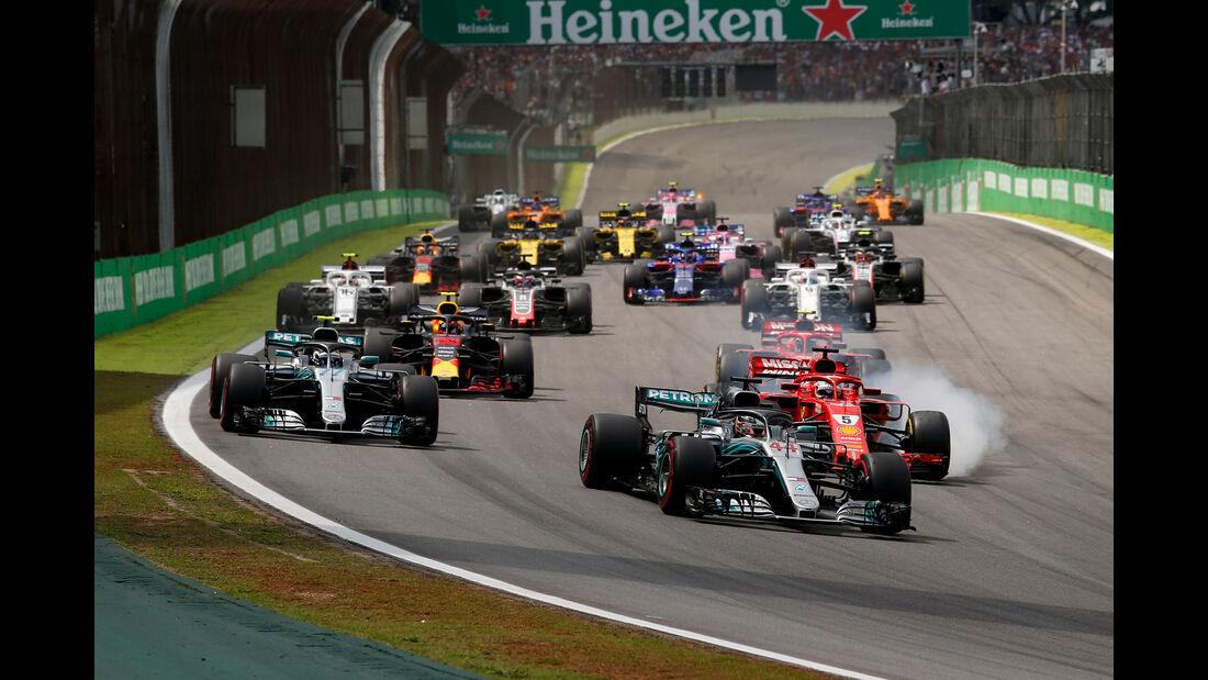 Start - Formel 1 - GP Brasilien 2018
