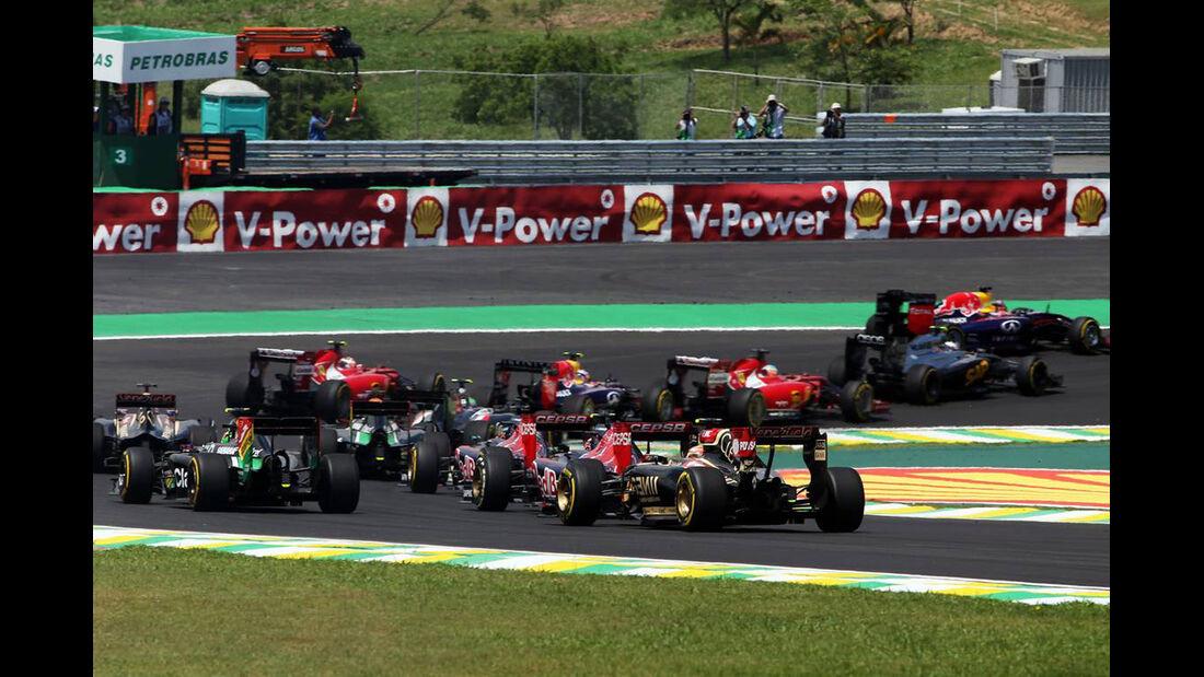 Start - Formel 1 - GP Brasilien - 9. November 2014