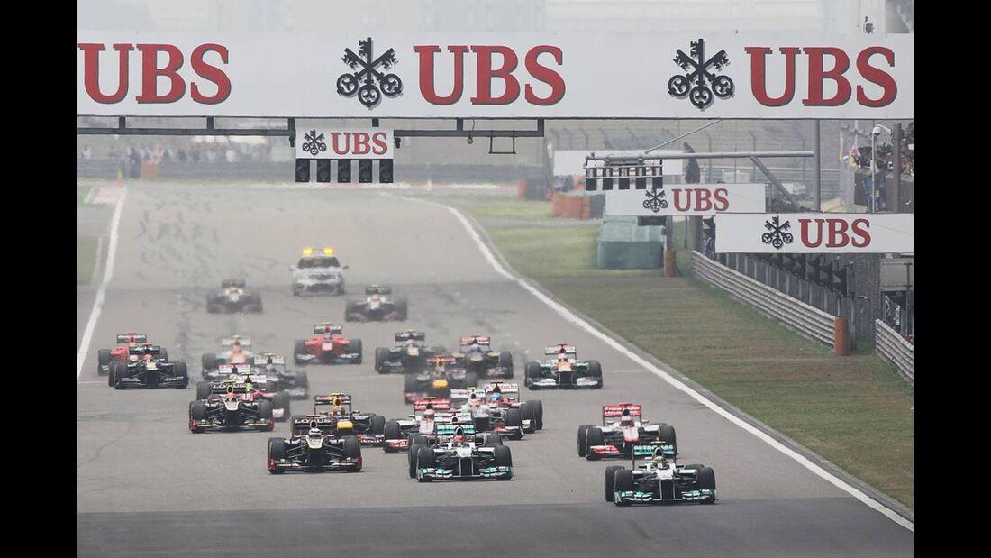 Start - Formel 1 - GP China - 15. April 2012