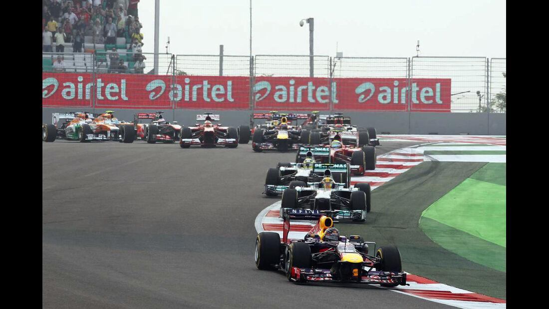 Start- Formel 1 - GP Indien - 27. Oktober 2013