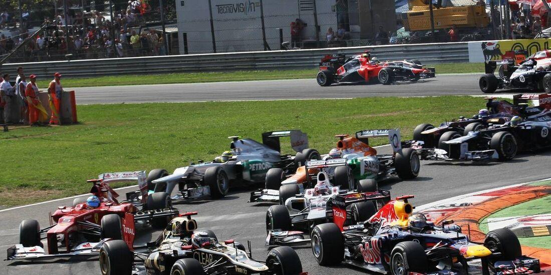 Start - Formel 1 - GP Italien - 09. September 2012