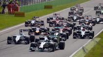Start  - Formel 1 - GP Italien - 7. September 2014