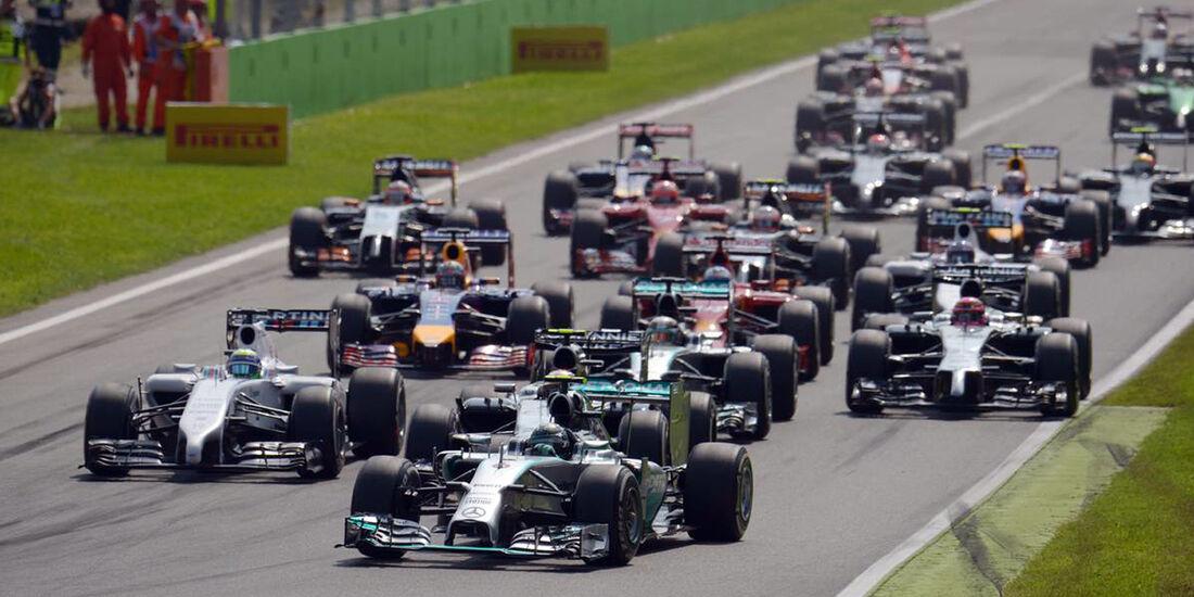 Start  - Formel 1 - GP Italien - 7. September 2014
