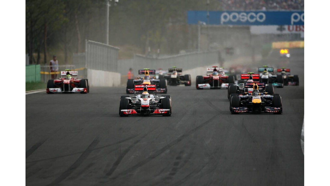 Start - Formel 1 - GP Korea - 16. Oktober 2011
