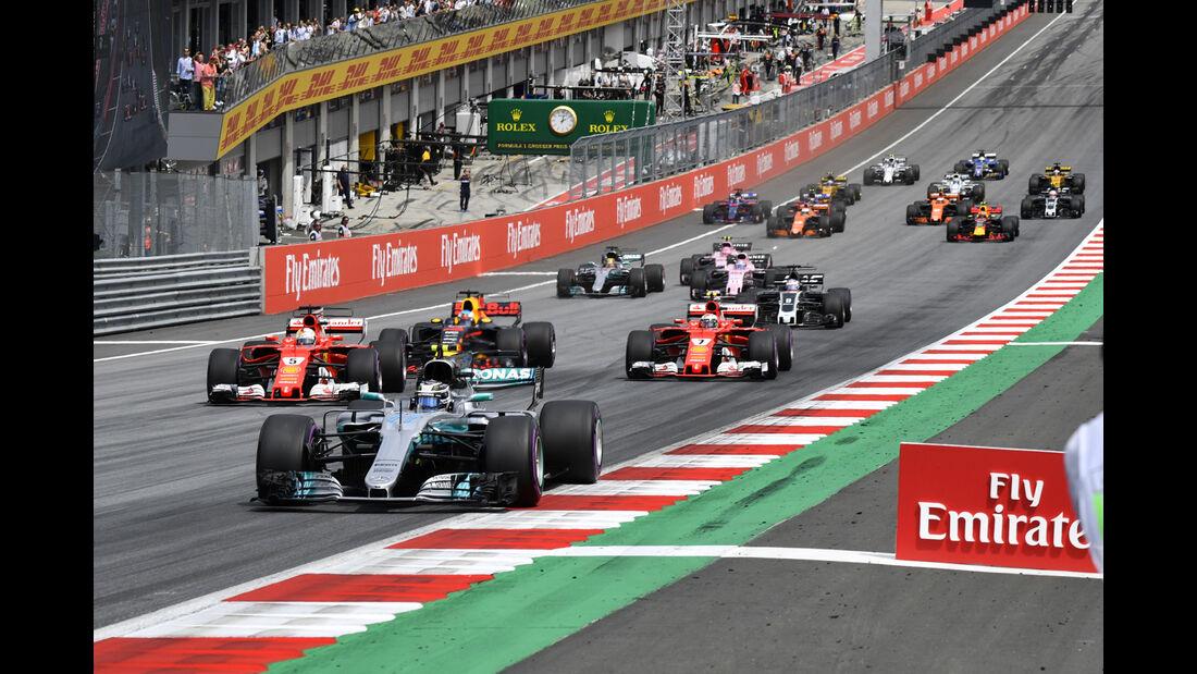 Start - Formel 1 - GP Österreich 2017