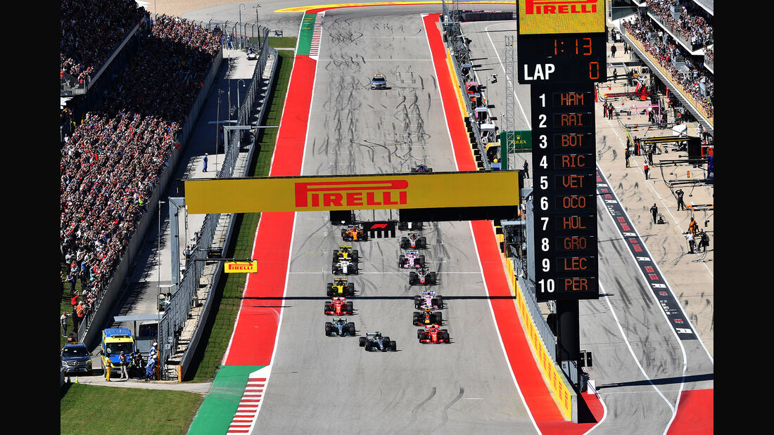 Start - Formel 1 - GP USA - Austin - 2018