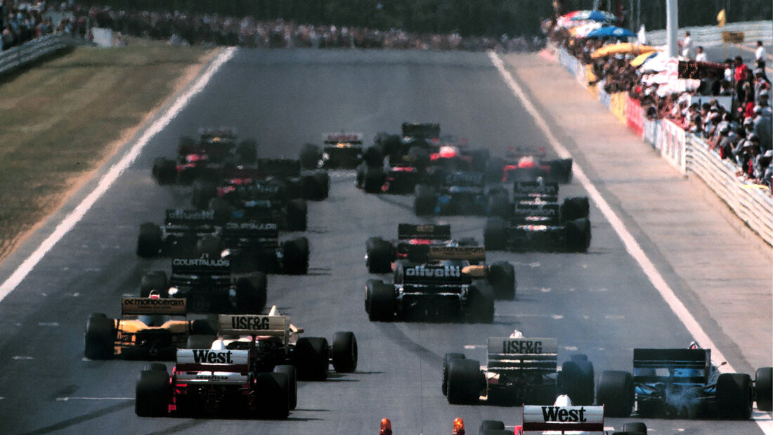 Start - Formel 1 - GP Ungarn 1986