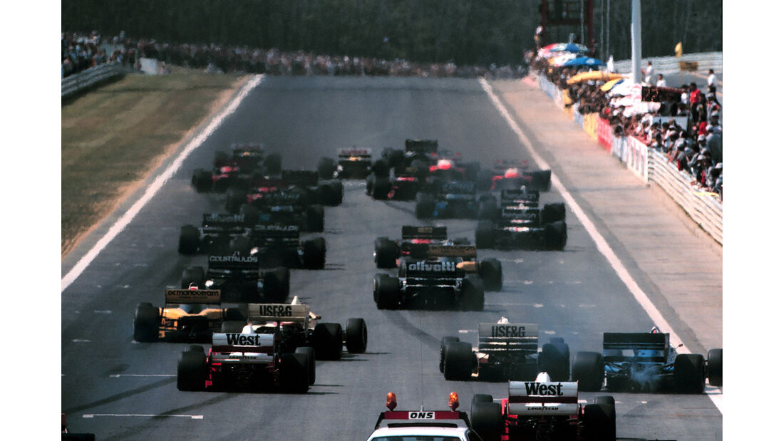 Start - Formel 1 - GP Ungarn 1986