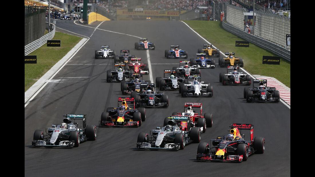 Start - Formel 1 - GP Ungarn 2016