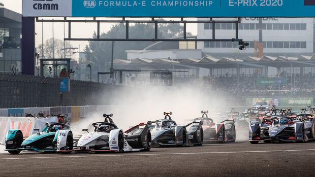 Start - Formel E - Mexiko 2020 - Evans - Lotterer