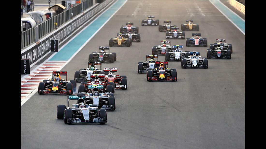 Start - GP Abu Dhabi 2016