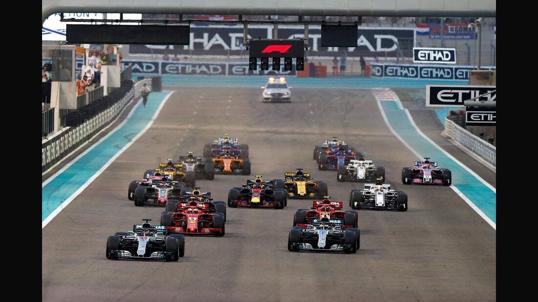 Start - GP Abu Dhabi 2018