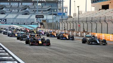 Start - GP Abu Dhabi 2020 - Rennen