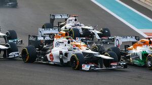 Start GP Abu Dhabi Crash Hülkenberg 2012