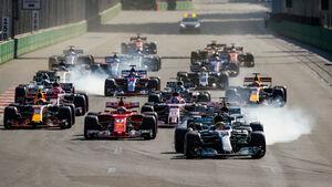 Start - GP Aserbaidschan 2017 - Baku