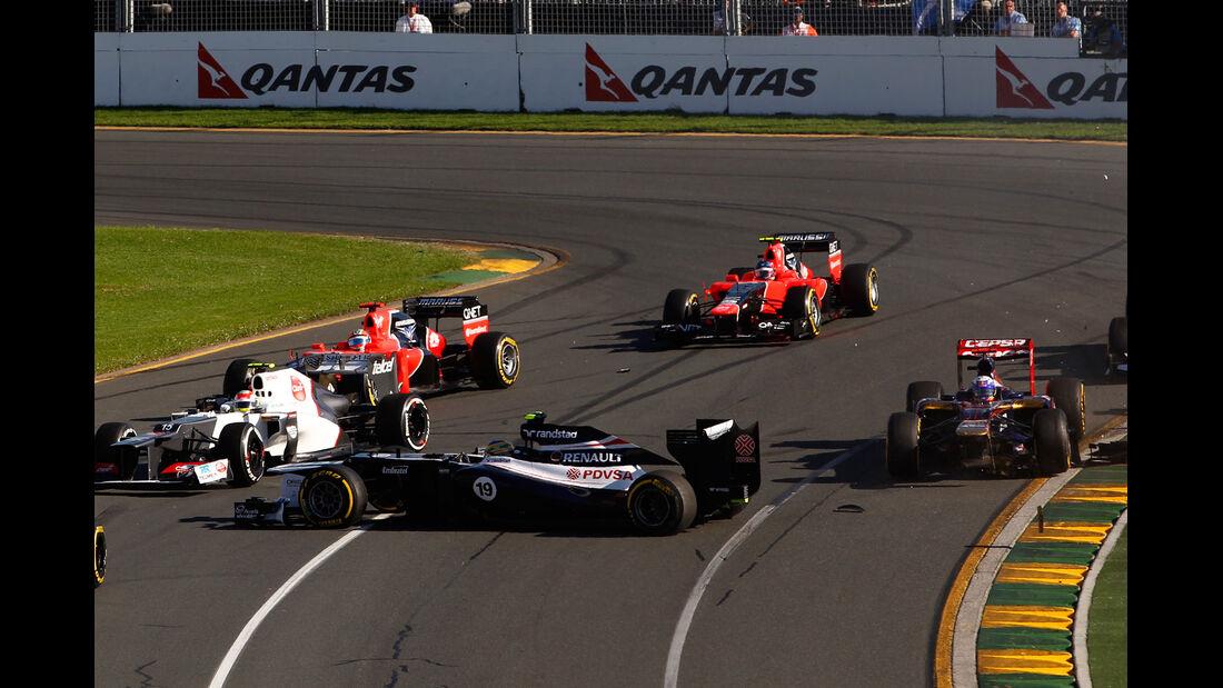 Start GP Australien F1 Crashs 2012