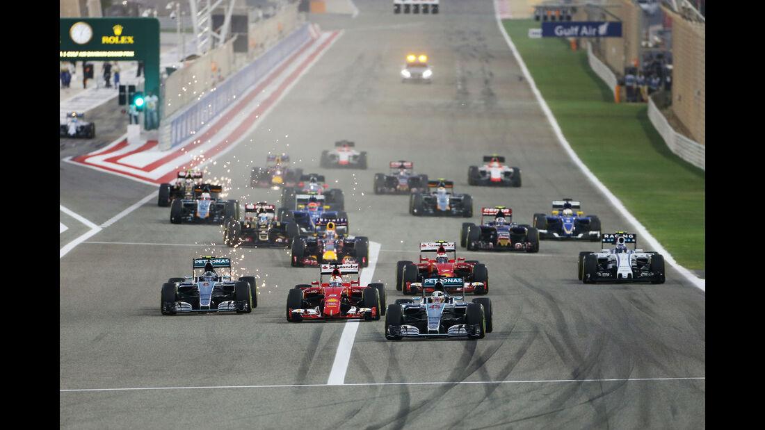 Start - GP Bahrain 2015