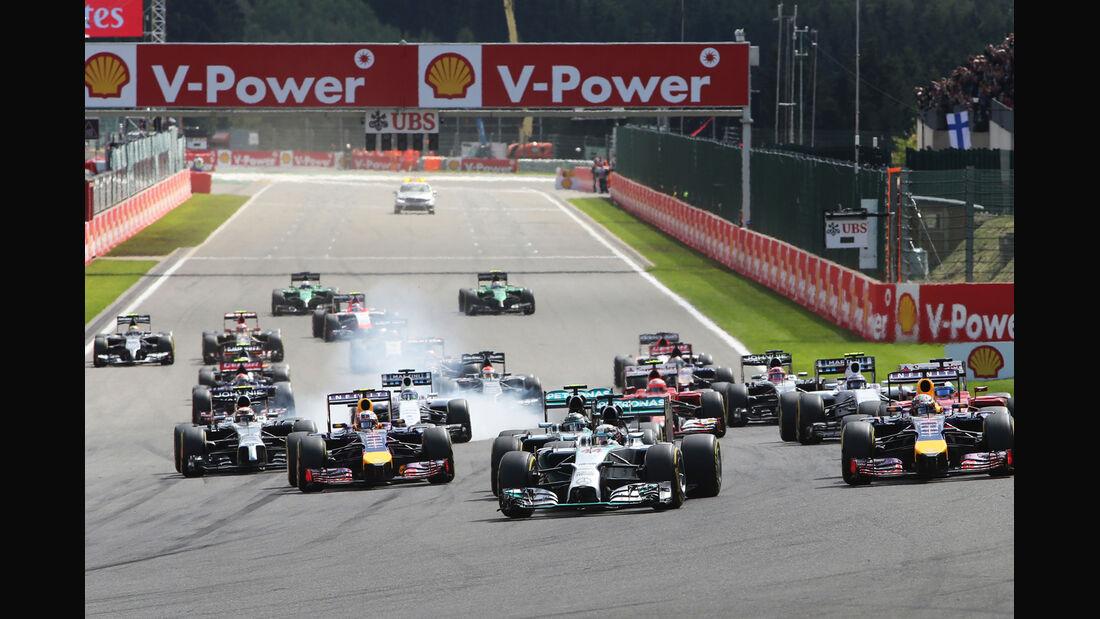 Start - GP Belgien 2014