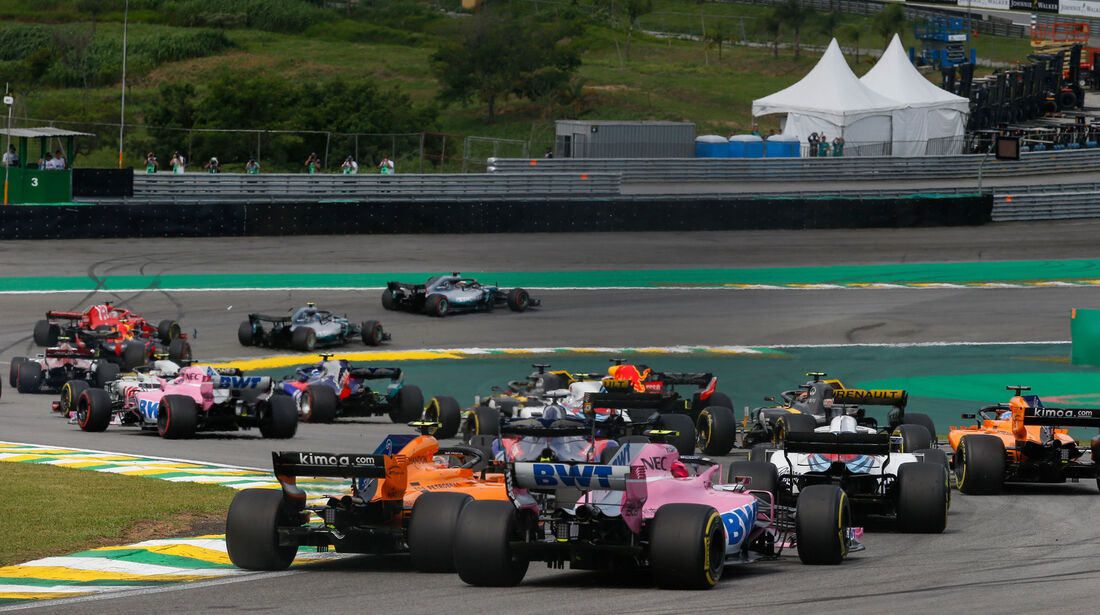 Start - GP Brasilien 2018 - Rennen