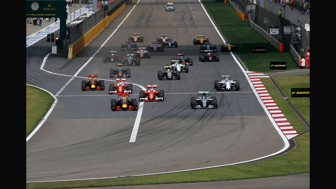 Start - GP China 2016 - Shanghai - Rennen