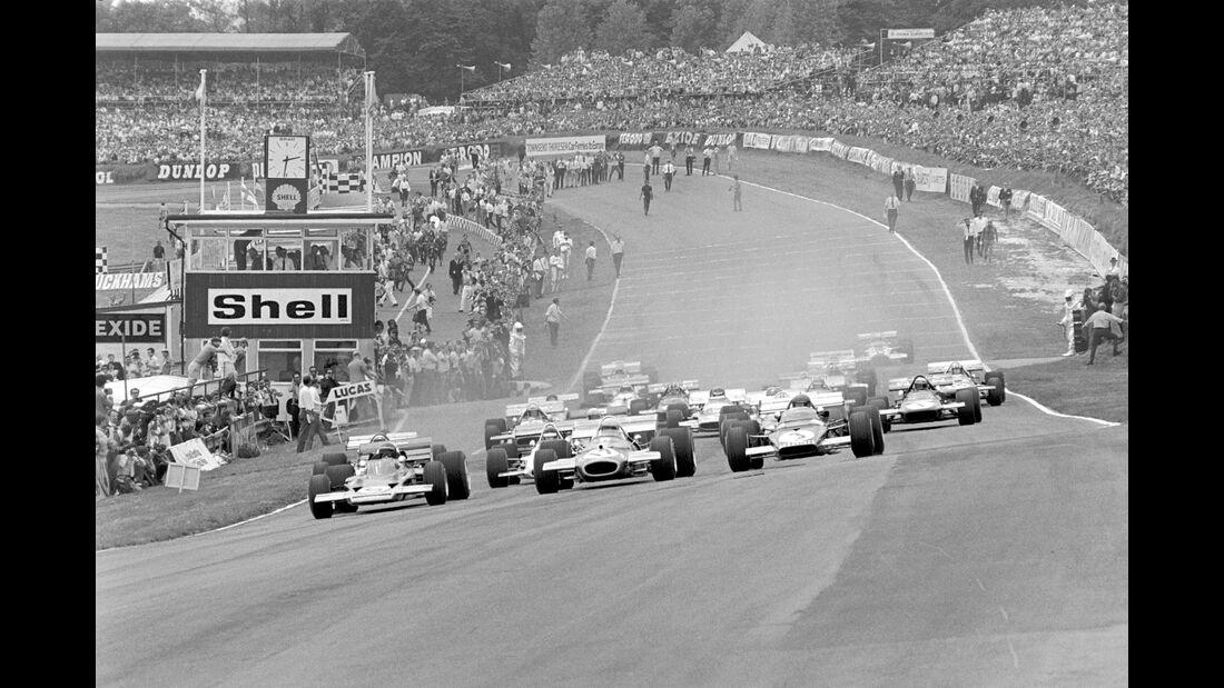 Start - GP England 1970 - Brands Hatch - Jochen Rindt - Jack Brabham - Jacky Ickx