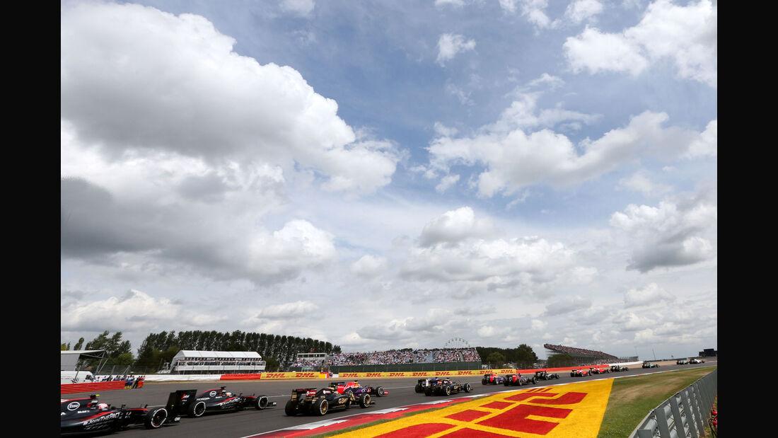 Start - GP England - Silverstone - Rennen - Sonntag - 5.7.2015