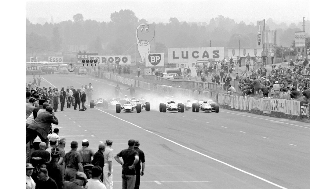 Start - GP Frankreich 1967 - Le Mans - Bugatti Circuit