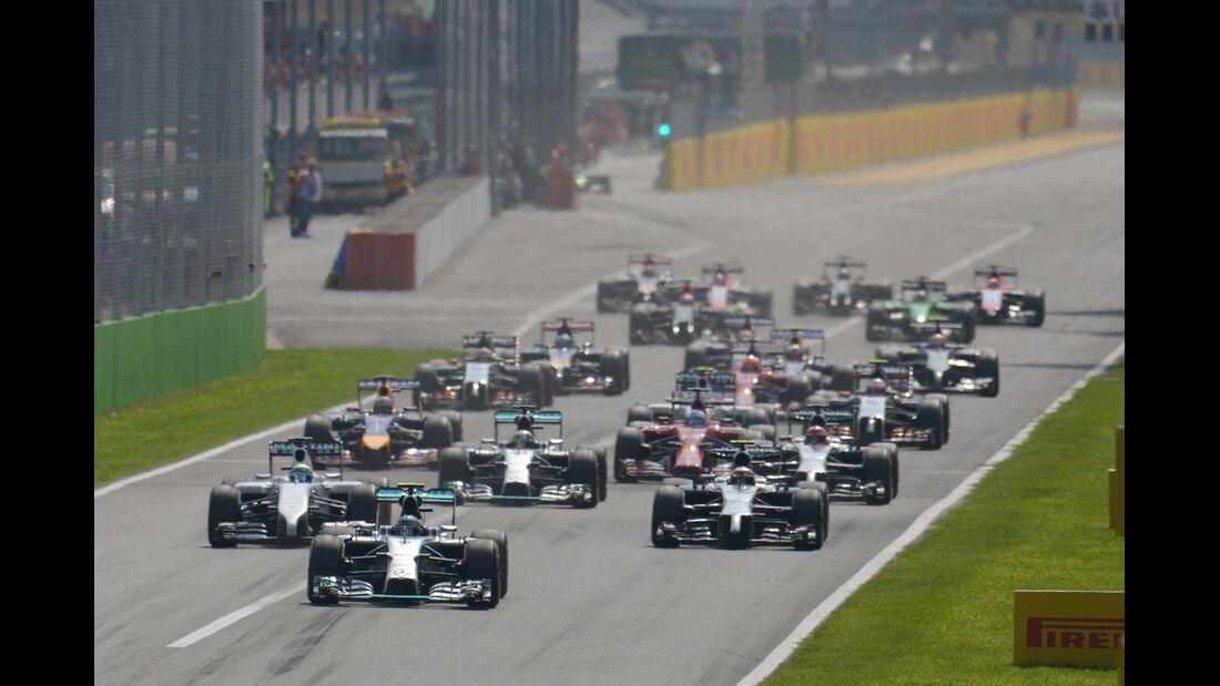 Start - GP Italien 2014