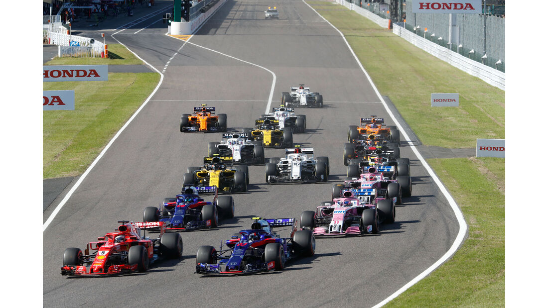 Start - GP Japan 2018 - Suzuka - Rennen