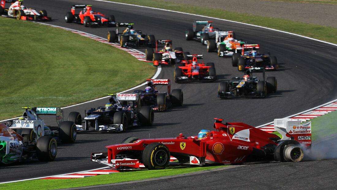 Start GP Japan Fernando Alonso 2012