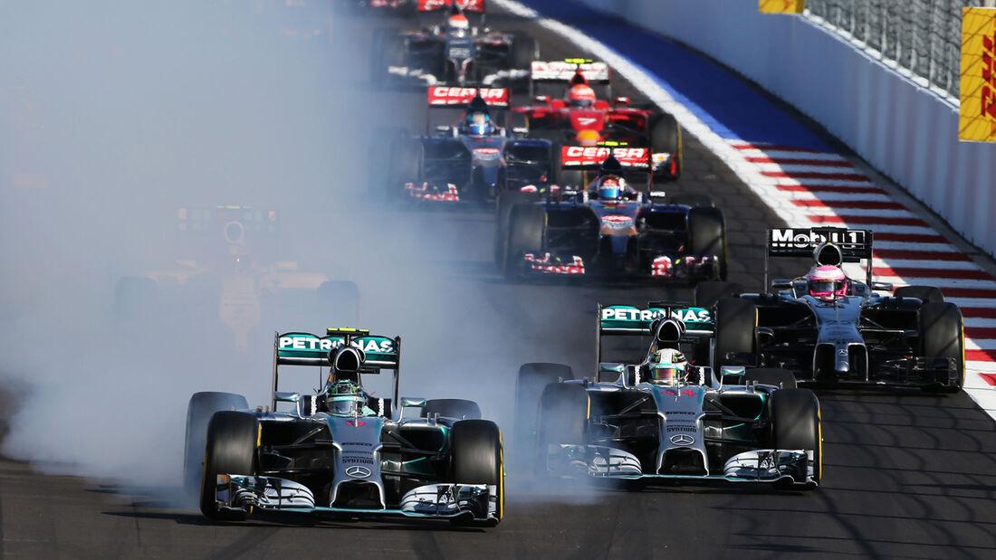 Start - GP Russland 2014