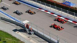 Start - GP Russland 2019