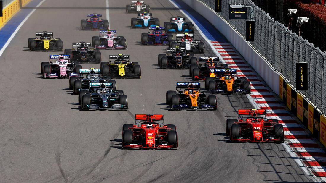 Start - GP Russland 2019 - Sochi Autodrom - Rennen