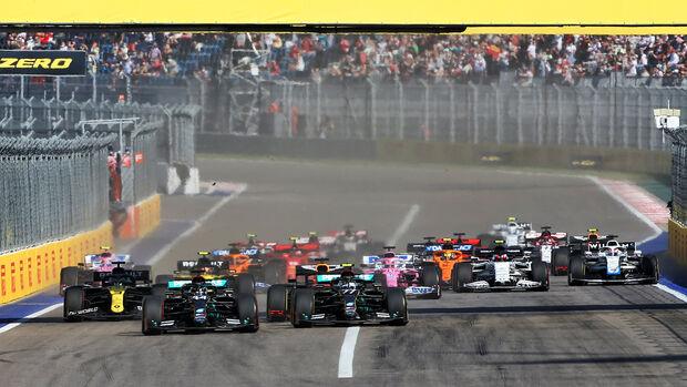 Start - GP Russland - Sotschi - Formel 1 - 2020