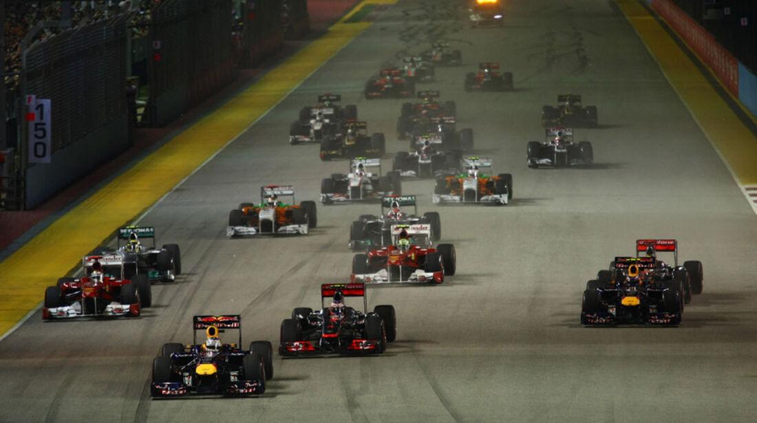 Start GP Singapur 2011