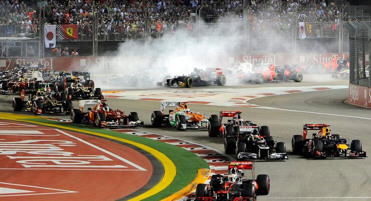 Start GP Singapur 2012