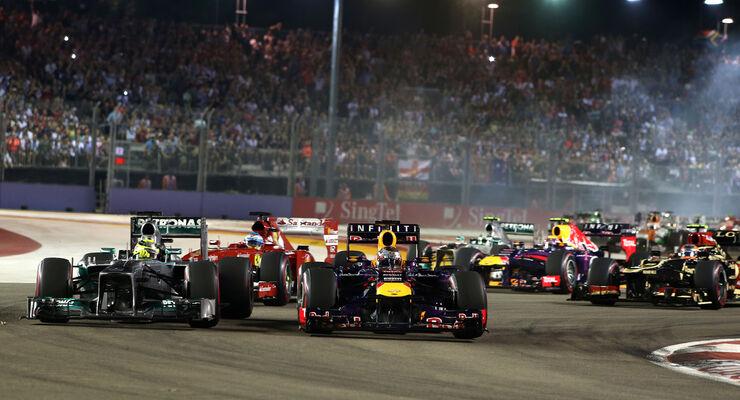 Start - GP Singapur 2013