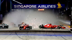Start - GP Singapur 2017 - Vettel - Verstappen - Räikkönen