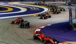 Start - GP Singapur 2019