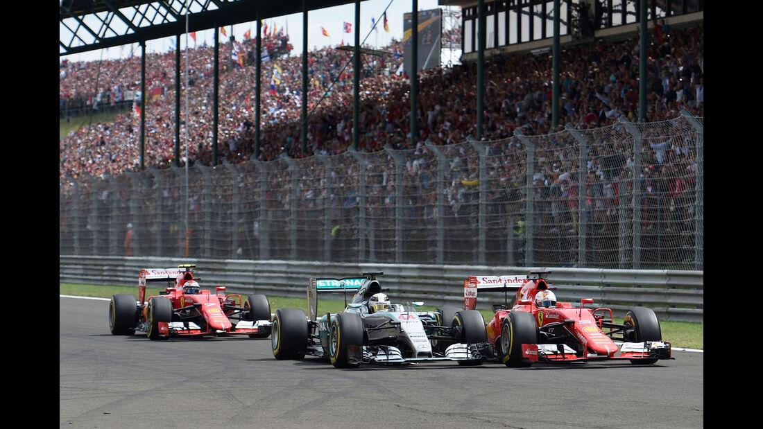 Start - GP Ungarn - Budapest - Rennen - Sonntag - 26.7.2015