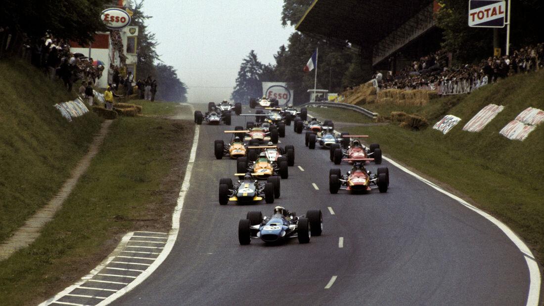 Start - Rouen - Formel 1 - GP Frankreich 1968