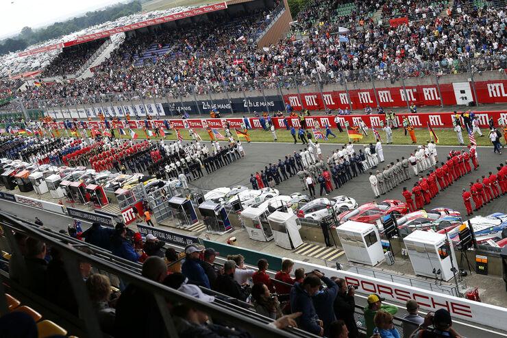 Startaufstellung - 24h Le Mans - Samstag - 18.06.2016