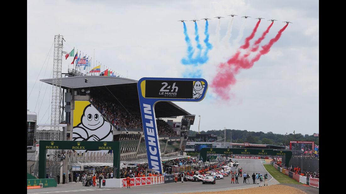Startaufstellung - 24h-Rennen Le Mans 2018 - Samstag - 16.6.2018