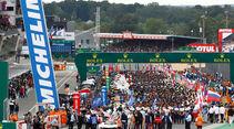 Startaufstellung - 24h-Rennen Le Mans - Samstag - 15.06.2019