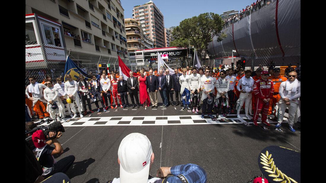 Startaufstellung - Formel 1 - GP Monaco 2017