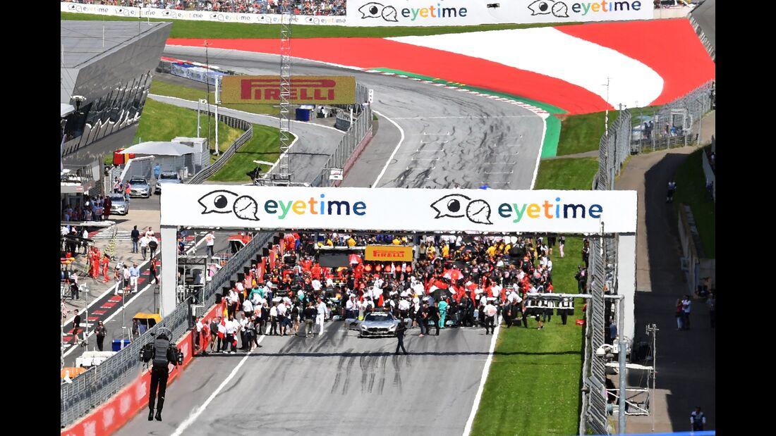 Startaufstellung - Formel 1 - GP Österreich - 1. Juli 2018
